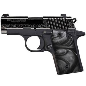 "SIG Sauer P238 Black Pearl Semi Auto Pistol .380 ACP 2.7"" Barrel 6 Rounds Night Sights Black Pearl Grips Black 238-380-ESB"