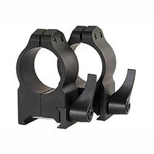 Warne Maxima Quick Detach Weaver/Picatinny Style Scope Ring 30mm Tube Extra High Height Matte Black Finish 216LM