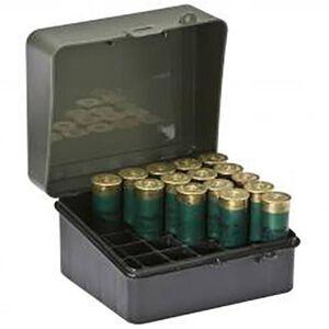 Plano, Ammunition Field Box, 12 Gauge and 16 Gauge Shotgun Shell, 25 Round, Black and Green,