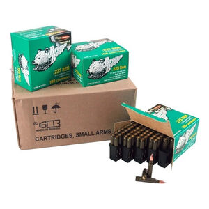 Brown Bear .223 Remington Ammunition 800 Rounds 55 Grain Full Metal Jacket Steel Cased Bi-Metal Jacket 3130fps