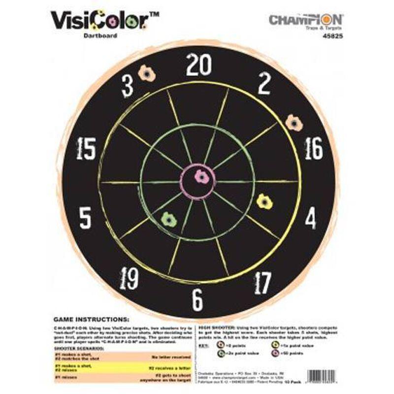 "Champion VisiColor Dartboard Target 11""x14"" Paper"