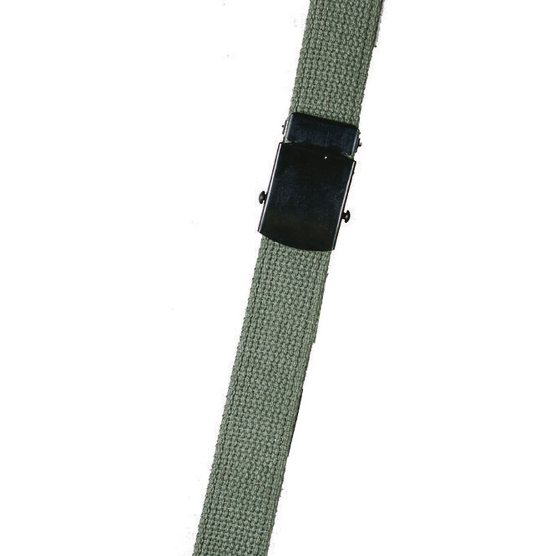 Tru-Spec Tactical Web Belt with Closed Face Buckle Cotton 44 Inch Black 4135000