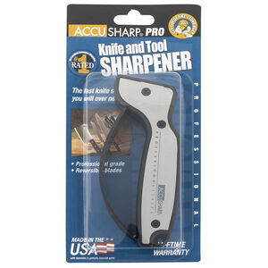 AccuSharp Pro Knife And Tool Sharpener Black/Silver