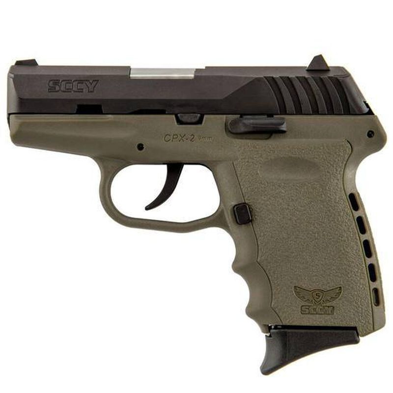 """SCCY CPX-2 9mm Luger 3.1"""" Barrel 10 Rounds FDE/Black"""