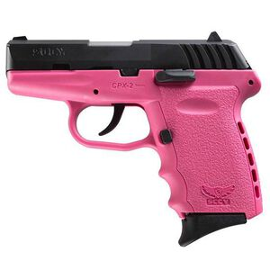"""SCCY Industries CPX-2 Semi Auto Pistol 9mm Luger 3.1"""" Barrel 10 Rounds Pink Polymer Frame with Black Nitride Finish CPX-2CBPK"""