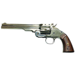 "Cimarron Model 3 Schofield Revolver .45 Long Colt 7"" Barrel 6 Rounds Wood Grips Nickel Finish"