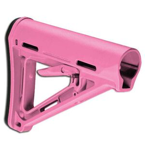 Magpul MOE Mil-Spec AR-15 Carbine Stock With Sling Attachment Points Rubber Buttpad Polymer Pink MAG400-PNK