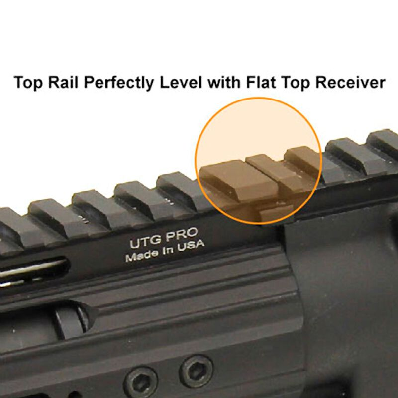 "UTG PRO Made in USA 13"" Super Slim Free Float Rail for AR10"