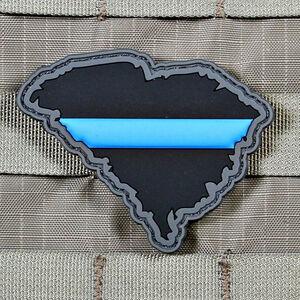 "Violent Little Machine Shop ""Thin Blue Line"" State of South Carolina Morale Patch"