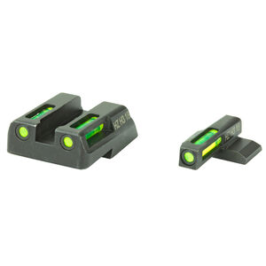 HiViz Litewave H3 Tritium/Litepipe fits HK VP/P30/HK45 Models Green Front Sight with No Front Ring/Green Rear Sight Steel Housing Matte Black