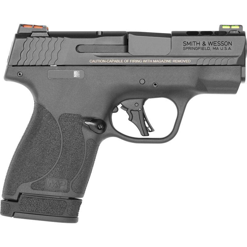 "S&W Performance Center M&P 9 Shield Plus 9mm Luger Semi-Auto Pistol 3.1"" Barrel 13 Rounds Ported Barrel and Slide Fiber Optic Sights Black"
