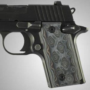 Hogue Extreme Series SIG Sauer P238 Grip Panels G10 G-Mascus Black/Gray 38167-BLKGRY