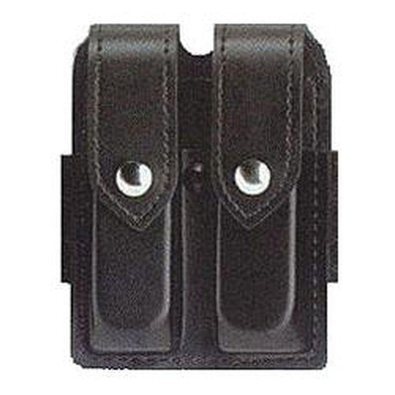 Safariland Model 77 Double Handgun Magazine Pouch GLOCK 20/21 Magazines Plain Finish Snap Closure Black 77-383-2