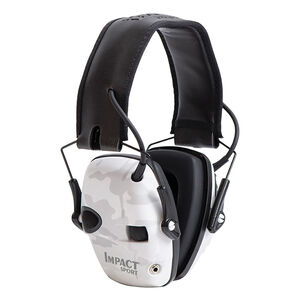 Howard Leight Impact Sport Folding Electronic Earmuff 22db Noise Reduction Rating AAA Batteries Multicam Alpine