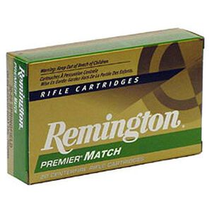 Remington Premier Match .308 Winchester Ammunition 20 Rounds 175 Grain Sierra MatchKing Boat Tail Hollow Point Projectile 2609fps