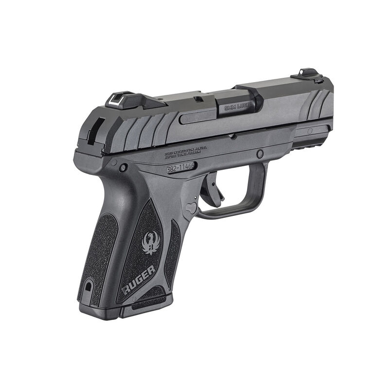 "Ruger Security-9 Compact 9mm Semi Auto Pistol 3.42"" Barrel 10 Rounds Polymer Frame Black"