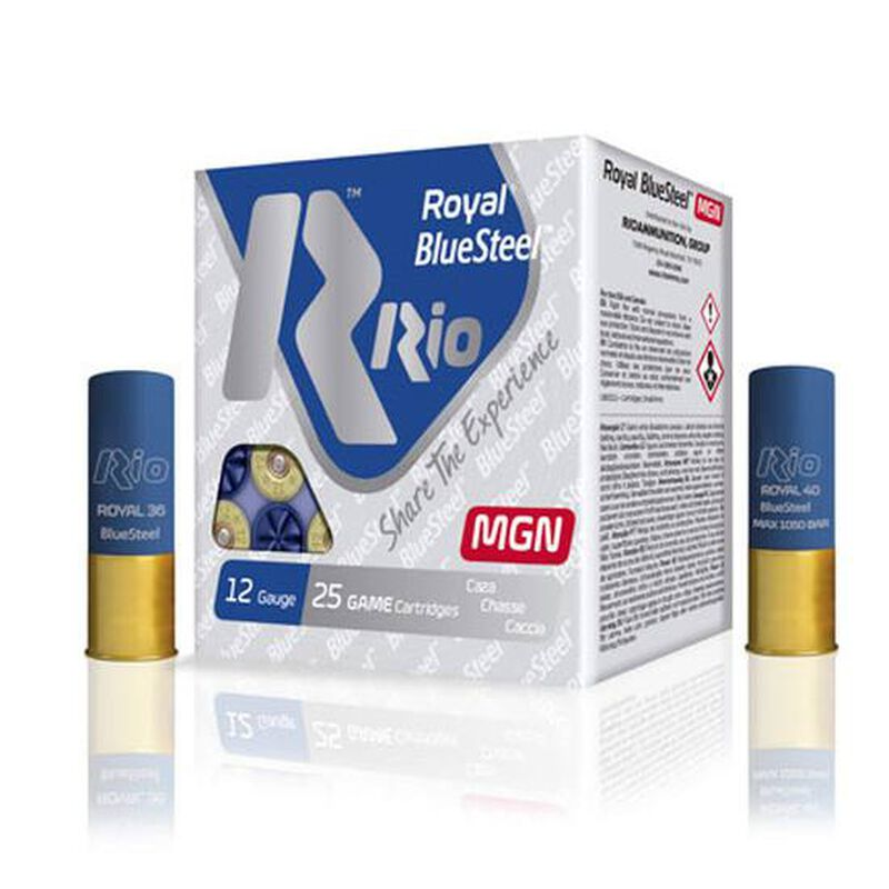"RIO Ammo Royal BlueSteel Magnum 32 12 Gauge Shot Shells 250 Rounds 3"" 1 1/8 oz #3 Shot"