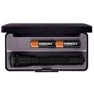 Maglite Mini Mag Flashlight 12 Lumen 2x AA Battery Nylon Sheath Aluminum Body Black Finish Presentation Box M2A01L