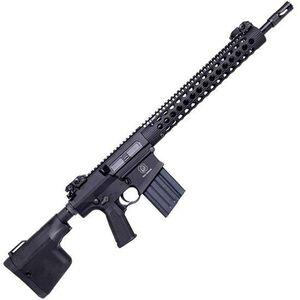 "Troy Industries Semi Auto Rifle .308 Win/7.62 NATO 16"" Barrel 20 Rounds 13.8"" Alpha Rail Battle Ax CQB Collapsible Stock Troy BatteSights Black SRIF38R16BT"
