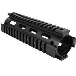 Aim Sports AR-15/M4 Drop In Quad Rail Hand Guard Carbine Length Aircraft Grade Aluminum Hard Coat Anodized Matte Black Finish
