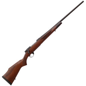 "Weatherby Vanguard Sporter .22-250 Remington Bolt Action Rifle 24"" Barrel 5 Rounds Monte Carlo Turkish Walnut Stock Matte Bead Blasted Blued"
