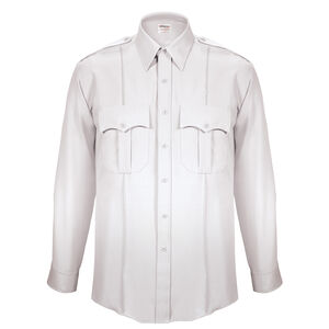 """Elbeco Textrop2 Men's Long Sleeve Shirt Neck 18.5 Sleeve 35"""" 100% Polyester Tropical Weave White"""