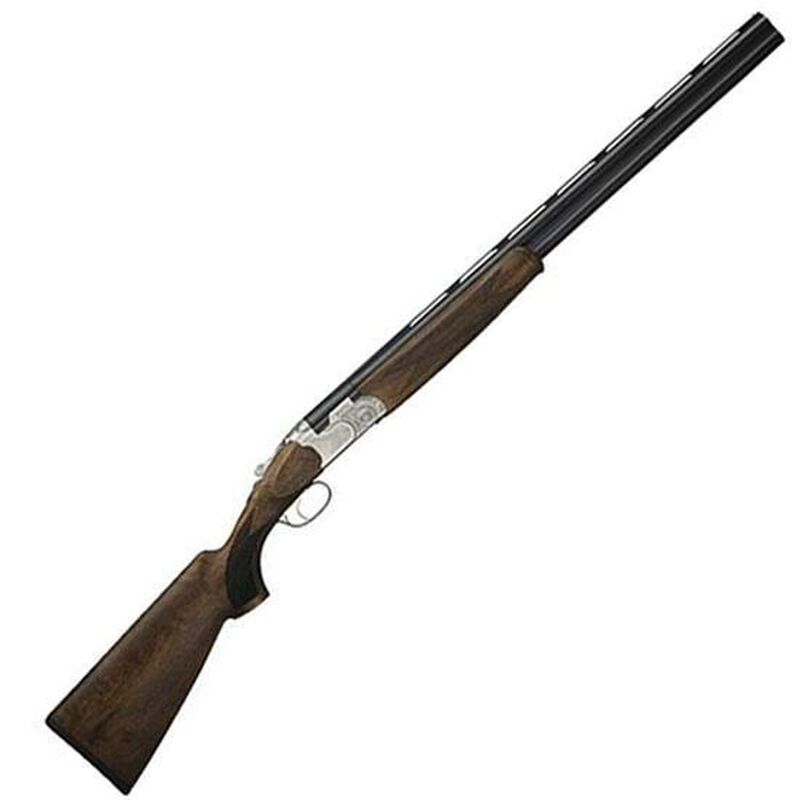 """Beretta 686 Silver Pigeon I O/U Break Action Shotgun 12 Gauge 30"""" Vent Rib Double Barrel 3"""" Chambers 2 Rounds Low Profile Engraved Silver Receiver Walnut Stock with Schnabel Forend Blued Barrel Finish"""