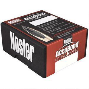 "Nosler AccuBond Long Range Bullet Lead Core/Bonded Jacket .30 Caliber .308"" Diameter 210 Grain Gray Polymer Tip Boat Tail Projectile 100 Per Box 58317"