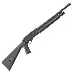 """EAA Akkar Churchill 612 12 Gauge Pump Action Shotgun 18.5"""" Barrel 3' Chamber 5 Rounds Durable Pistol Grip Polymer Synthetic Stock Matte Black"""