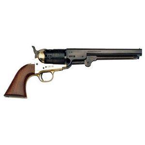 """Traditions 1851 Navy Black Powder Revolver .36 Caliber 7.375"""" Blued Octagonal Barrel Brass Frame Walnut Grip FR1851136"""