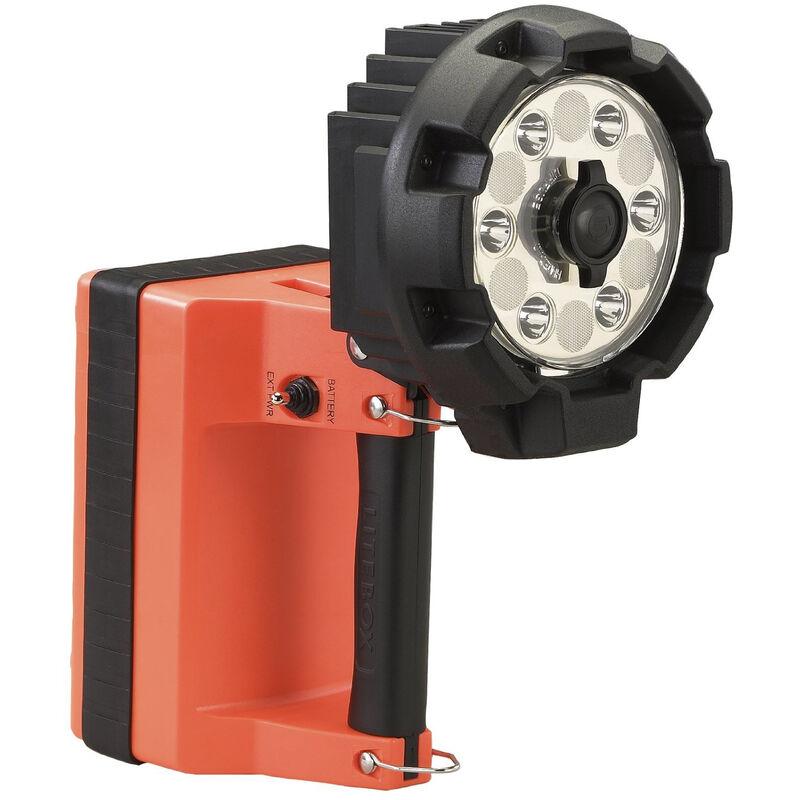 Streamlight E-Flood LiteBox HL Rechargeable Lantern 3,600 Lumen Rechargeable Battery 12V DC Direct Wire Rack Vehicle Mount Orange 45665