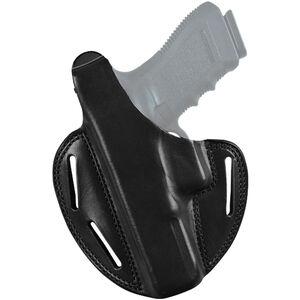 Bianchi Shadow II Pancake Belt Holster Fits GLOCK 17/22 Left Hand Leather Black