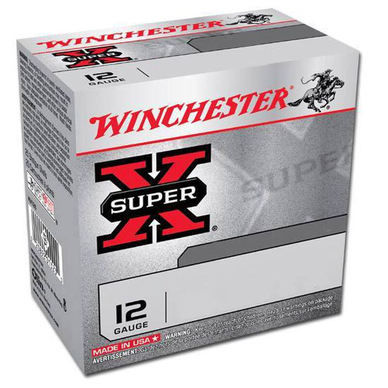 """Winchester Super-X 12 Ga 2.75"""" #4 Lead 1.25 oz 25 Rounds"""