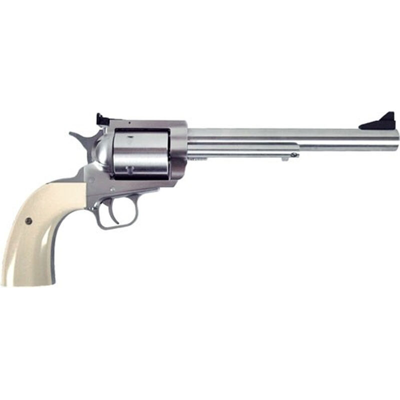 """Magnum Research BFR .480 Ruger/.475 Linebaugh Single Action Revolver 7.5"""" Barrel 5 Rounds Short Cylinder Model Adjustable Rear Sight Synthetic Pearl Grip Brushed Stainless Finish"""