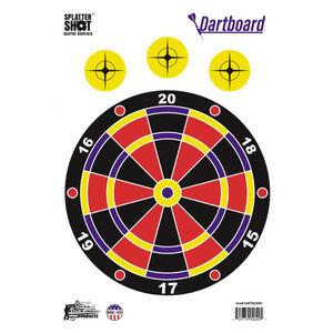 "Pro-Shot Splatter Shot Game Series Dartboard 12"" x 18"" Heavy Tag Paper Target 8 Pack"