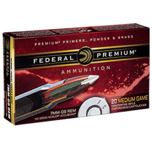Federal Premium Nosler 7mm-08 Remington Ammunition 20 Rounds 140 Grain Nosler Accubond 2850fps