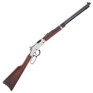 """Henry Silver Boy Lever Action Rifle .22 Long Rifle 20"""" Barrel 16 Rounds American Walnut Stock Nickel Plated Receiver H004S"""