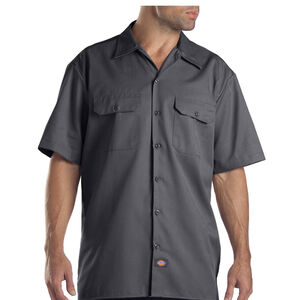 Dickies Men's Twill Work Shirt 4 Extra Large Regular Charcoal 1574CH