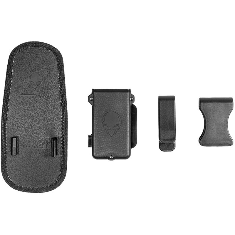 Alien Gear Cloak Single Mag Carrier IWB/OWB Double Stack 9mm/.40 S&W Magazines Polymer Black