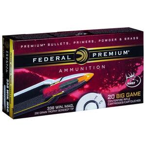 Federal .338 Winchester Magnum Ammunition 20 Rounds PTBT 200 Grains