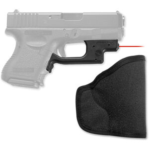 Crimson Trace Laserguard GLOCK Compact and Sub-Compact Models 19/23/25/26/27/28/32/33/36/38/39 Red Laser 1x 1/3N Lithium Battery with Pocket Holster LG-436H