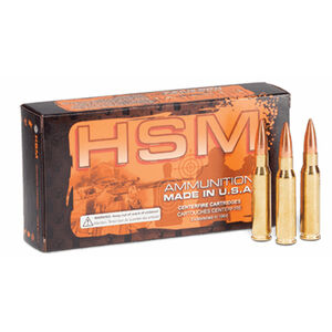HSM .223 Remington Ammunition 50 Rounds Speer TNT HP 50 Grains HSM-223-3-N