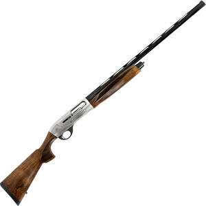 """Weatherby 18i Deluxe 12 Gauge Semi Auto Shotgun 28"""" Barrel 3"""" Chamber 4 Rounds Walnut Stock and Forend Matte Nickel and Blued Finish"""