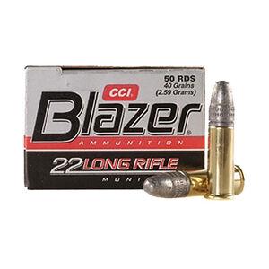 CCI Blazer Rimfire .22 LR Ammunition 40 Grain LRN 1235fps