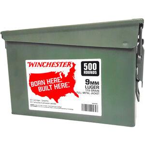 Winchester 9mm Ammunition 1000 Rounds FMJ 115 Grains