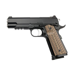 "Dan Wesson 1911 Specialist Commander Semi Auto Pistol 9mm Luger 4.25"" Barrel 9 Rounds Fixed Night Sights G-10 Grips Black Duty Finish"