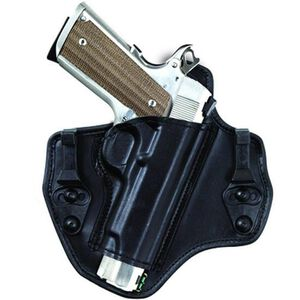 Bianchi Model 135 Suppression GLOCK 17, 19, 22, 23, 31, 32 IWB Holster Right Hand Leather Black 25744