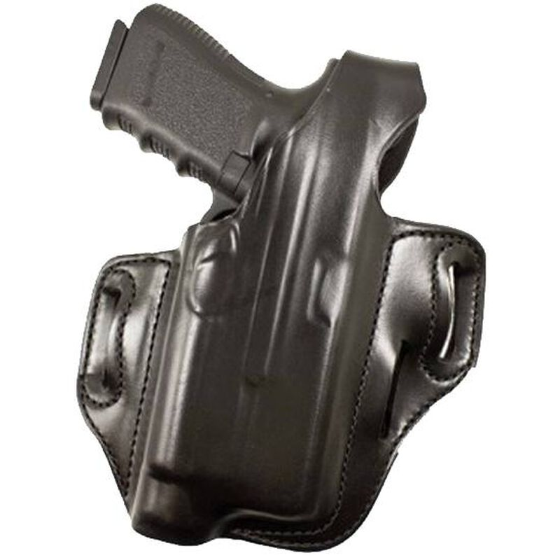 DeSantis Tac-Lite Belt Holster For GLOCK 17/22/37/31 with TLR-1/X300 Flashlight Right Hand Leather Black 117BAW8Z0