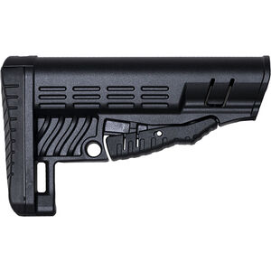 NcStar Classic Collapsible AR-15 Stock Fits Commercial Buffer Tube Polymer Black