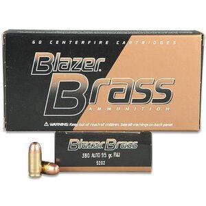 CCI Blazer Brass .380 ACP Ammunition 50 Rounds 95 Grain FMJ 945fps